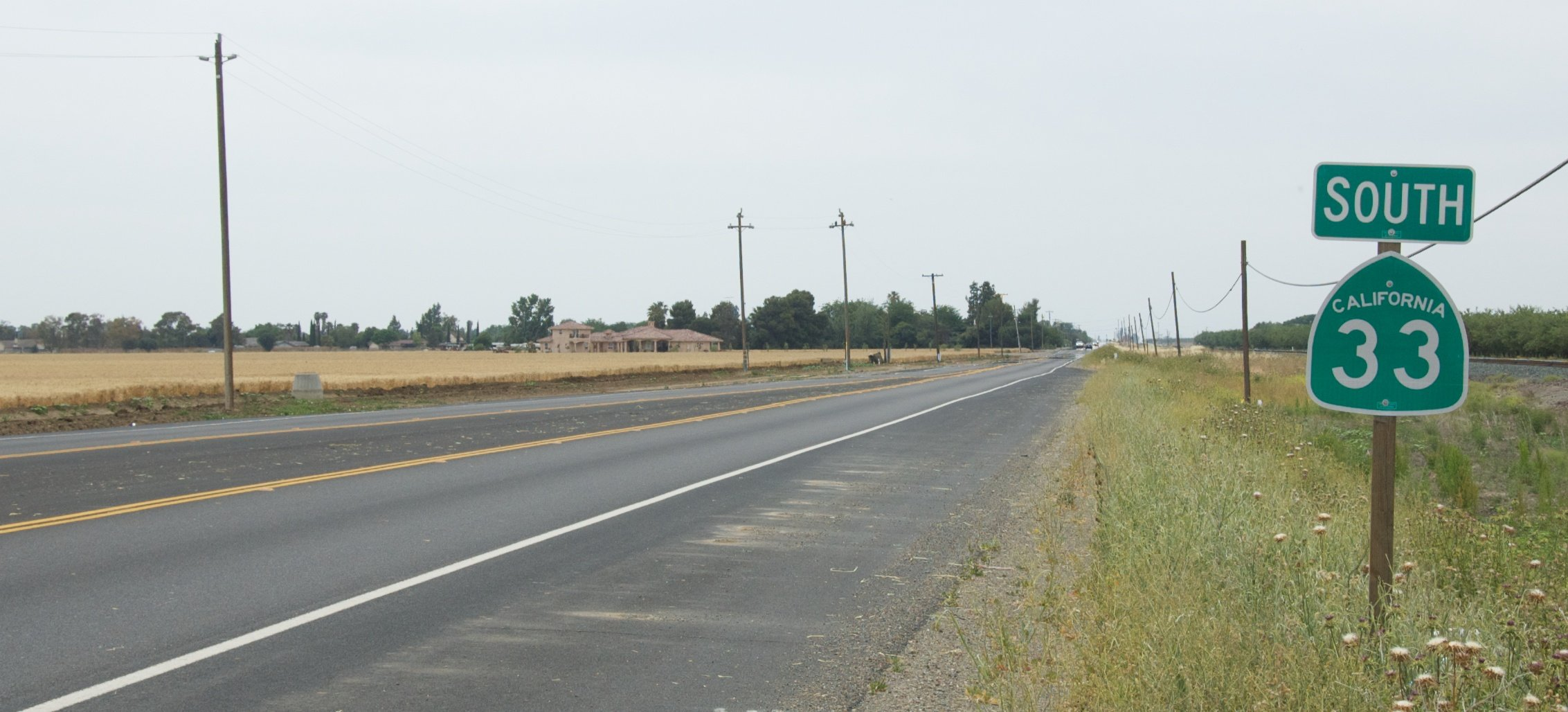 Start/end of SR 33, just south of Tracy, CA